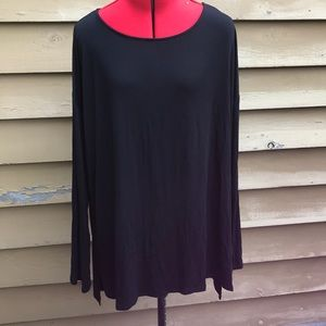 Basic long black tunic 2x